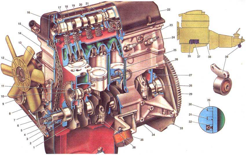 Ремонт двигателя автомобилей